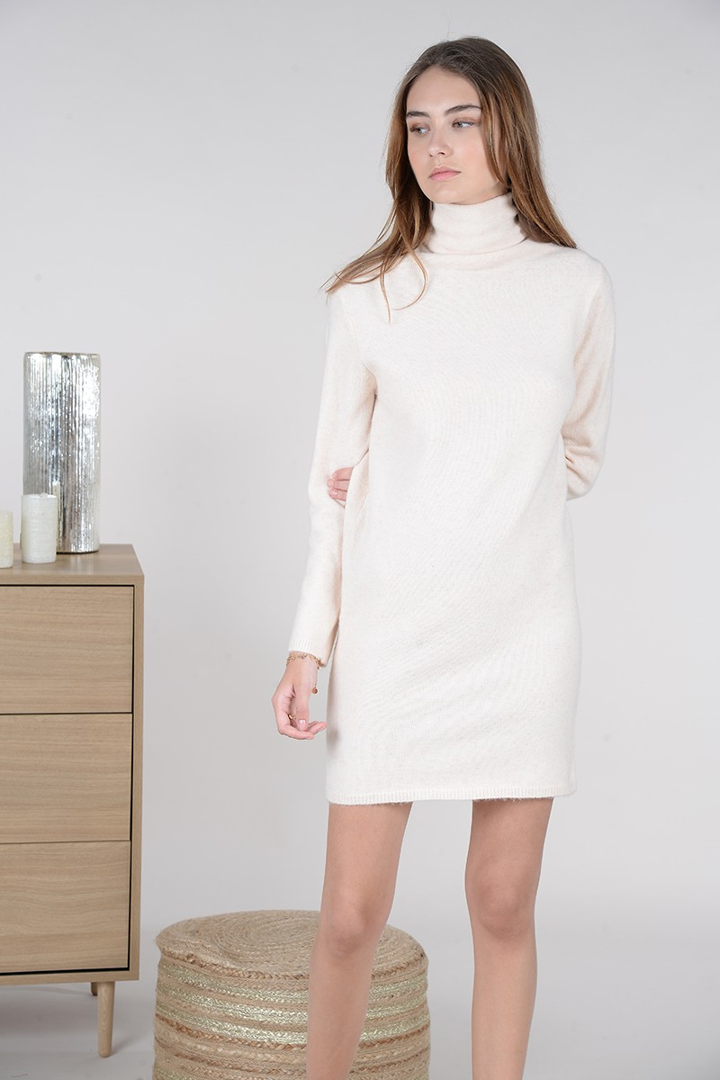 Turtleneck knit dress