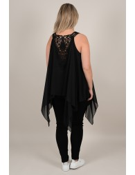 Lace back tunic