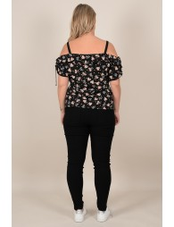 Floral top with thin straps
