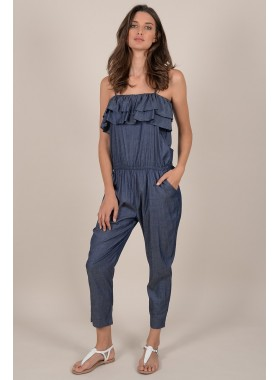 Sleeveless Ruffles jumpsuit