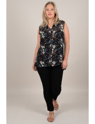 Printed shirt with flower