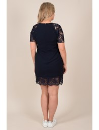 Straight lace hem dress