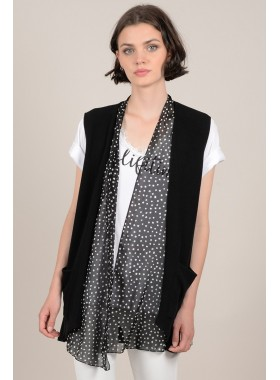 Dotted knitted cardigan