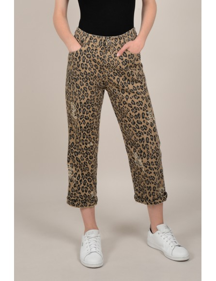 f037472a8d1 Wide leg cropped leopard trousers - Molly Bracken E-Shop ...