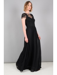 Long dress with sequin