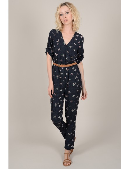 Printed fitted jumpsuit