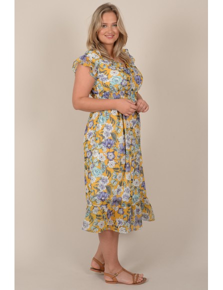 Mid-length flower dress