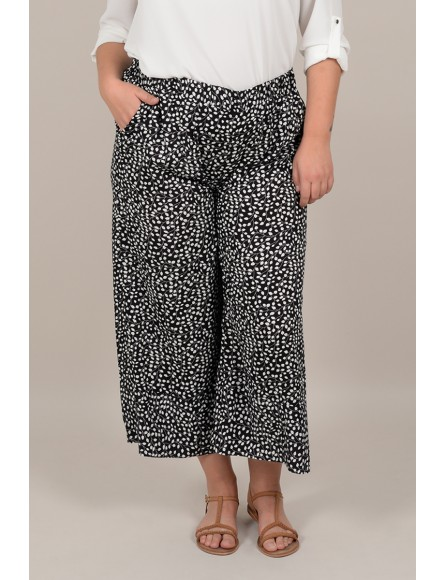 Large trousers 7/8 printed