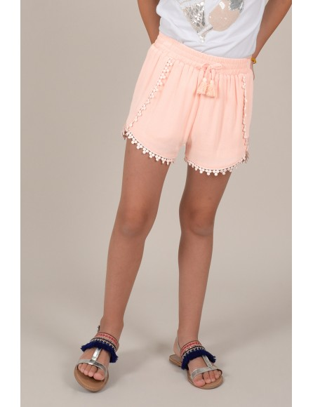 Shorts de niña Mini Molly con festones