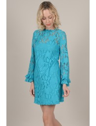 Flared lace dress