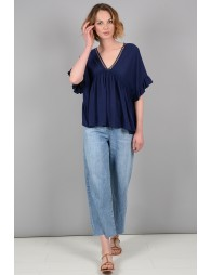 Large+G129:G150 blouse with ruffle