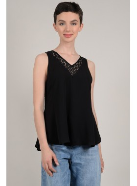 Lace back tank top