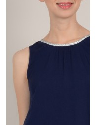 Fancy neck tank top