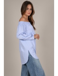 Off-the-shoulder tunic
