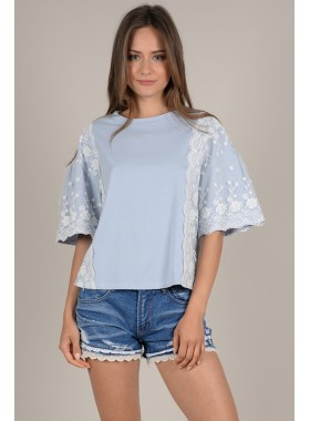 Large lace top