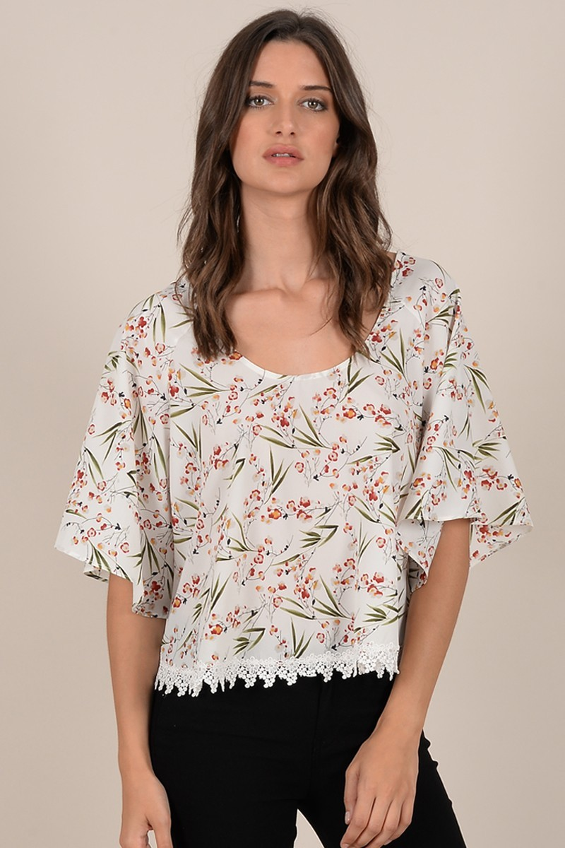 Top estampado de mujer Molly Bracken con manga amplia