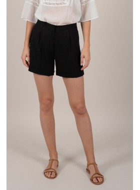 Pleated Cuffed Shorts