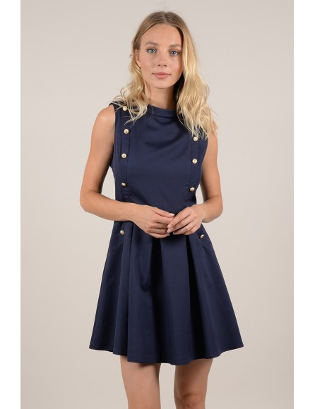 Doubled button mini dress