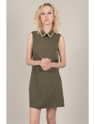 Shift dress with strass