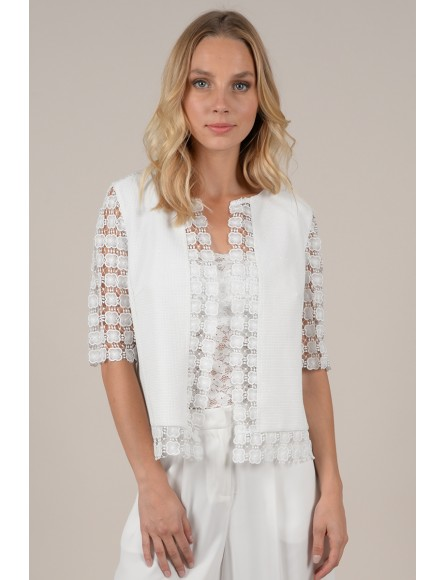 Open front Lace jacket