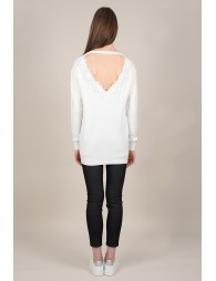 Sweatshirt backless