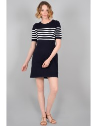 Marinière knit dress