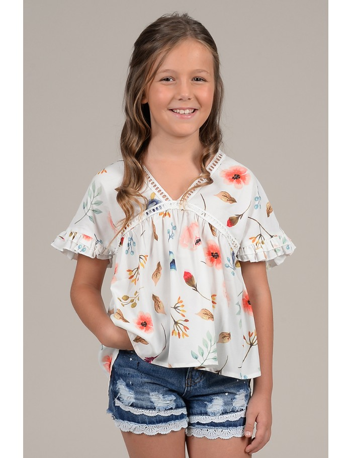 2406f6742f4992 Flower print top - Molly Bracken E-Shop - Collection Printemps Été 2018