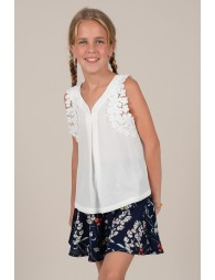 Flower lace top