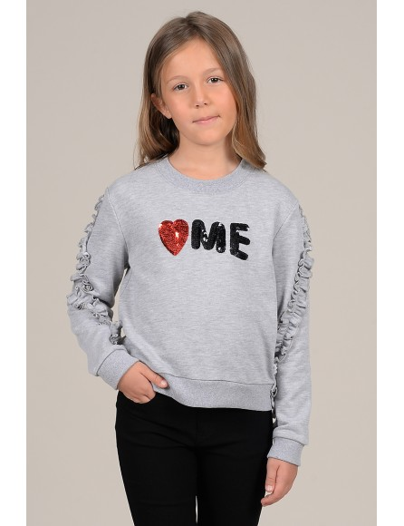 Sequined heart sweater