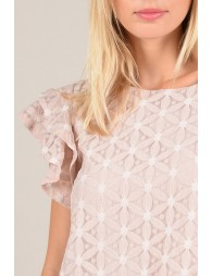 Ruffled Lace sleeves top