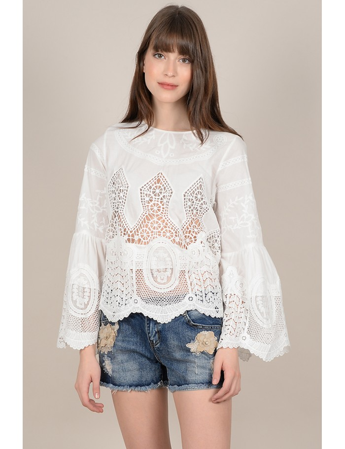 f995ddcbcd Bohemian lace blouse - Molly Bracken E-Shop - Collection Printemps ...