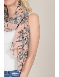 Printed scarf with flowers
