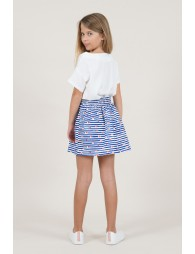 Printed heart skirt