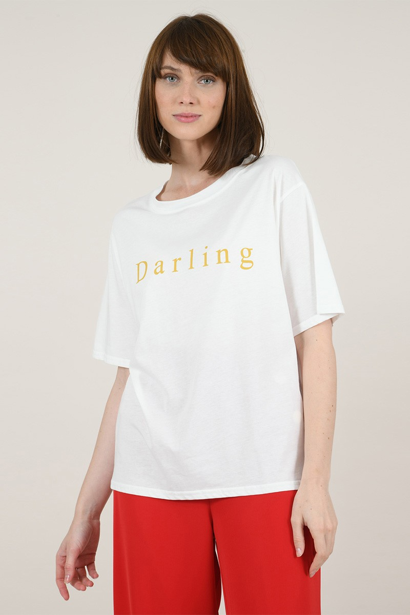 """Camiseta texto """"darling"""""""