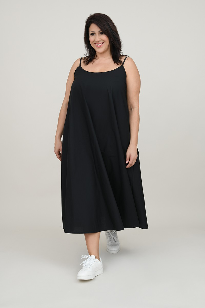 Flared back dress with knot