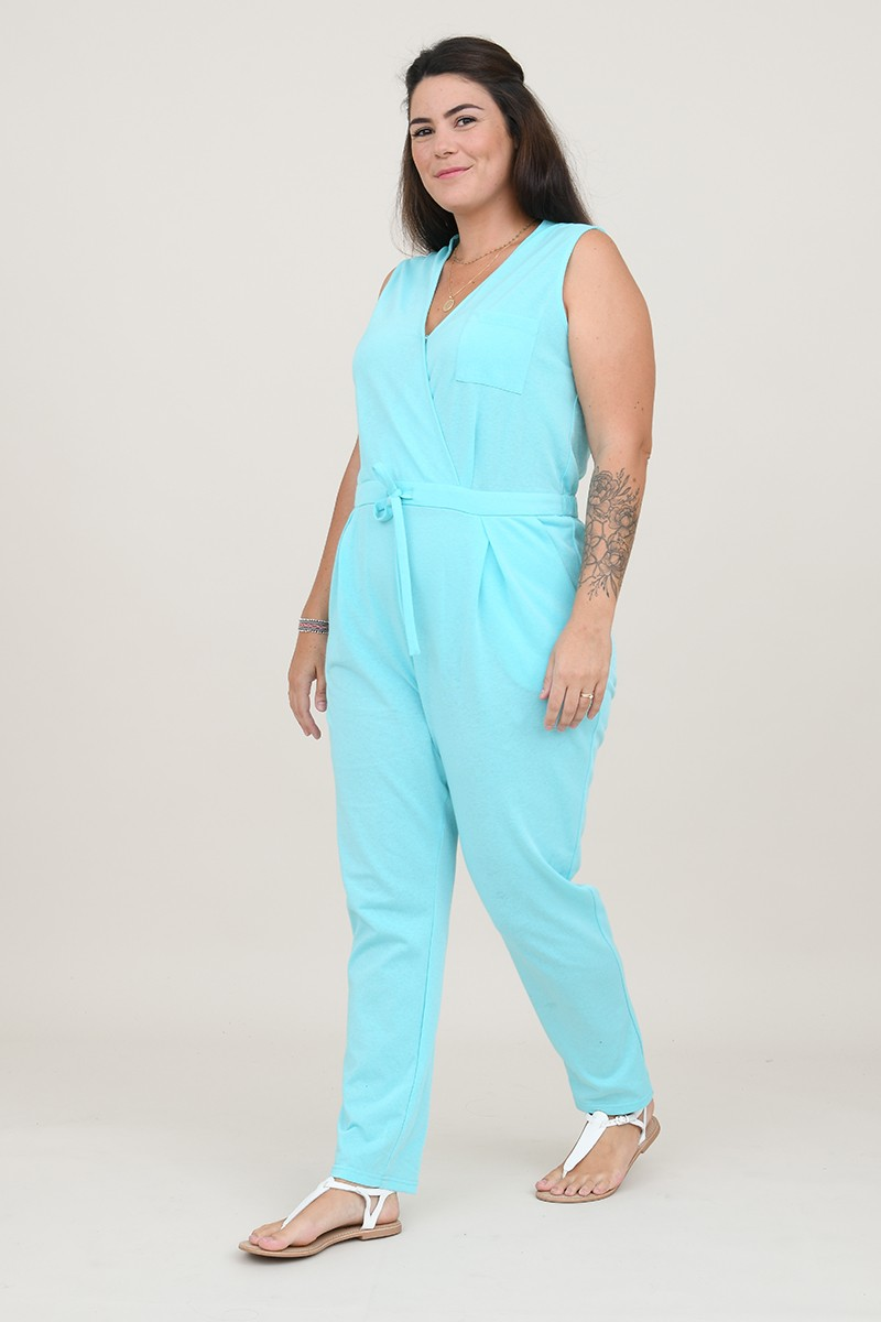 Jersey crossoverjumpsuit