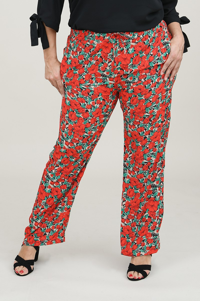 Red poppy large pant