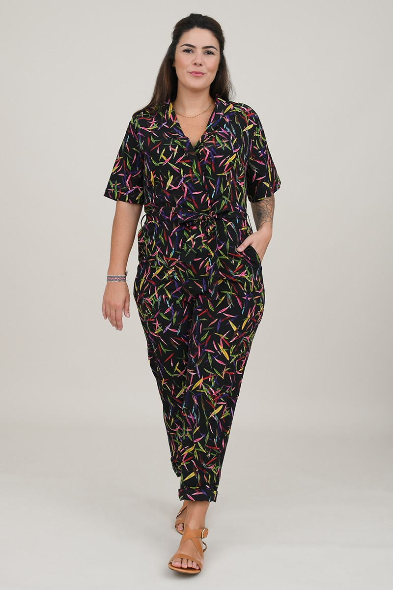 Printed jumpsuit suit