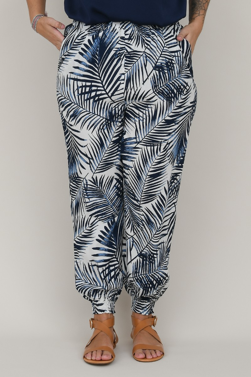 Printed large pants