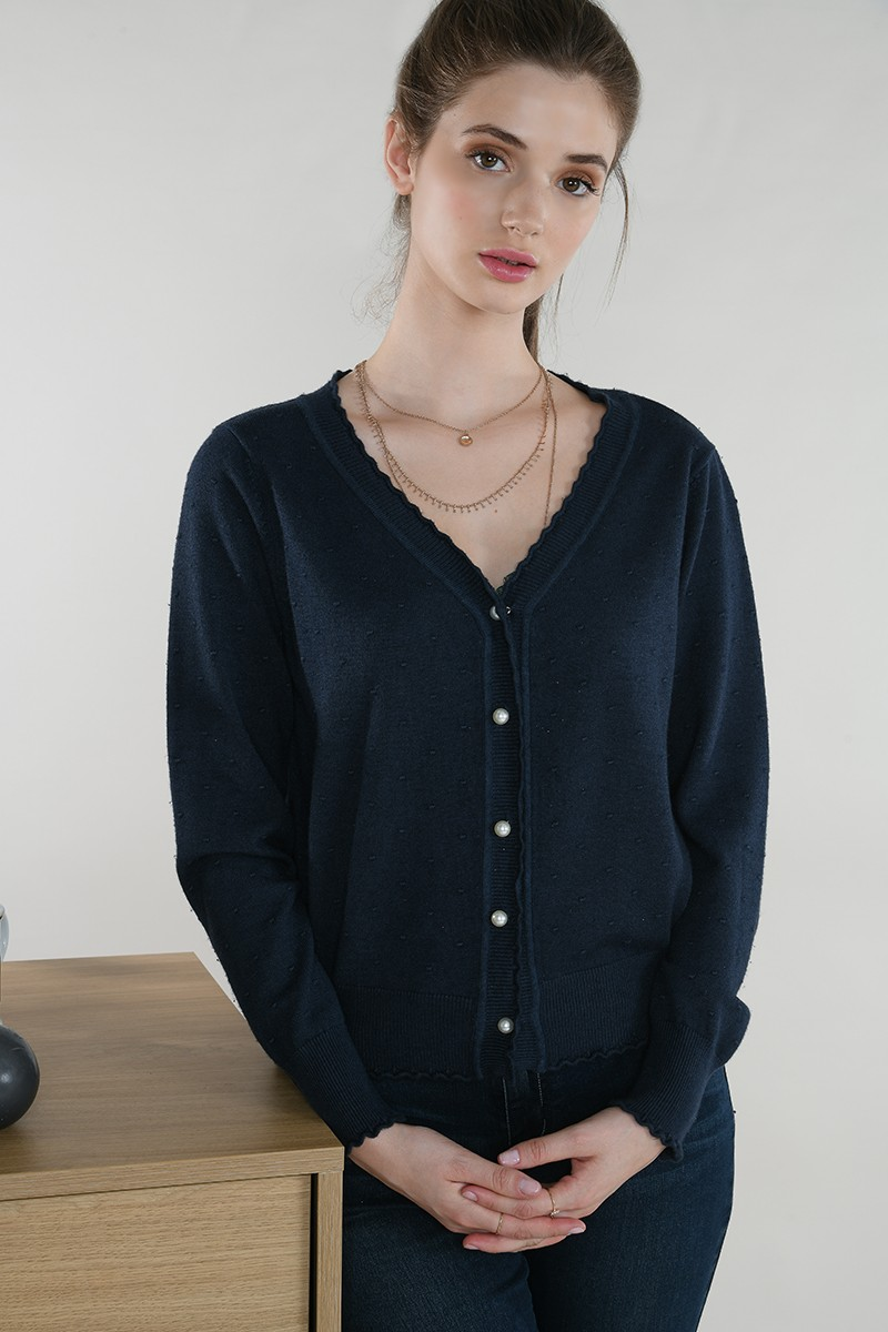 Scalopped cardigan