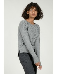 Pull maille fine et strass