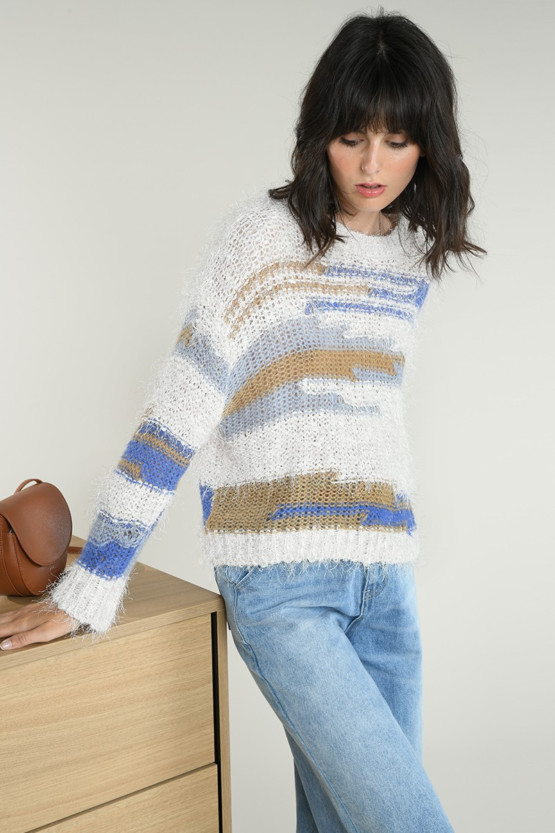 Mix knit jumper