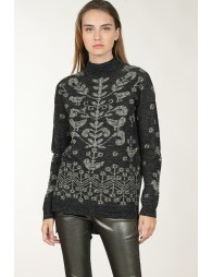 Pull droit motif arabesque