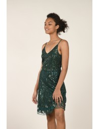 Robe cocktail à sequin