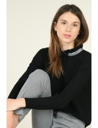 Pull maille, col froncé