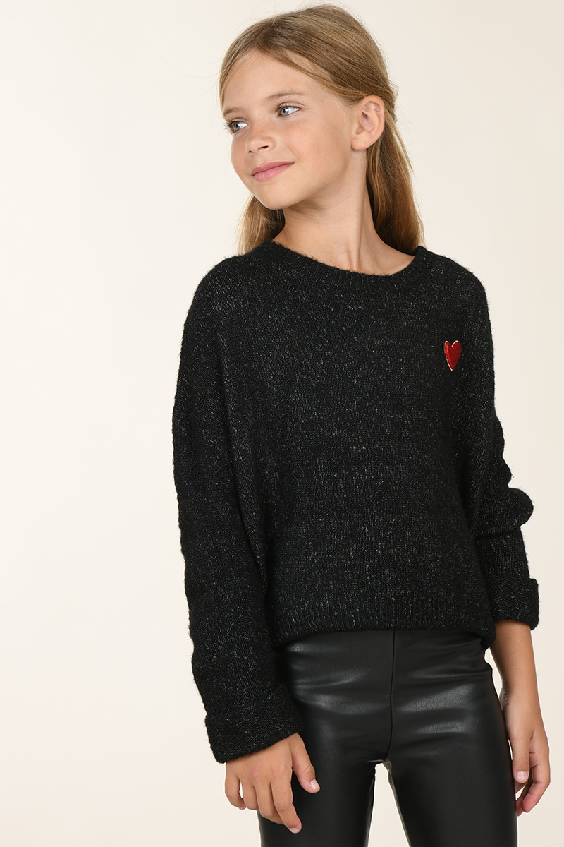 Knitted jumper with heart