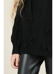 Pull maille et tulle