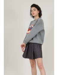 Front print sweater