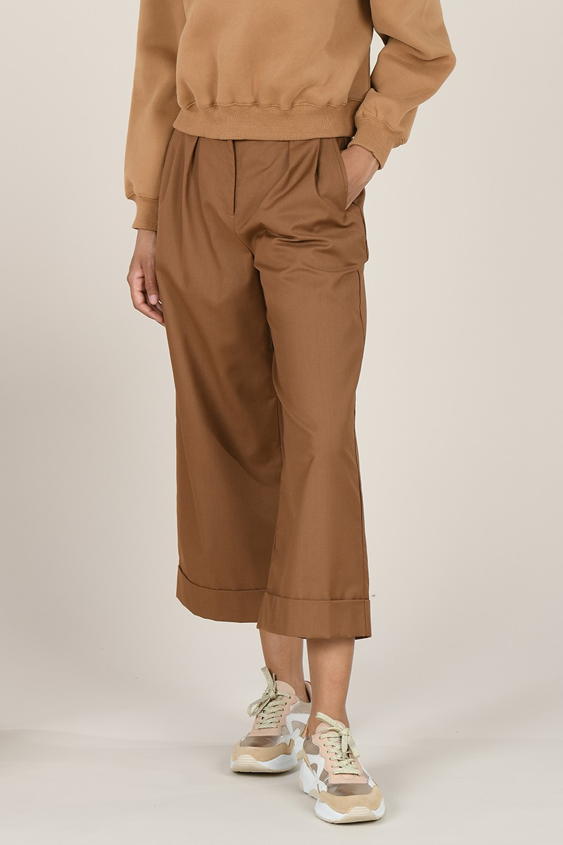 Cropped wide legs pants