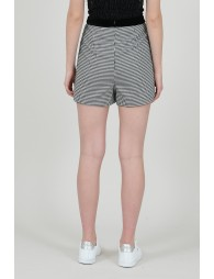 Houndstooth printed shorts